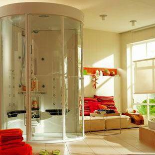 小洗手间装修效果图:卫生间与卧室融合的天衣无缝